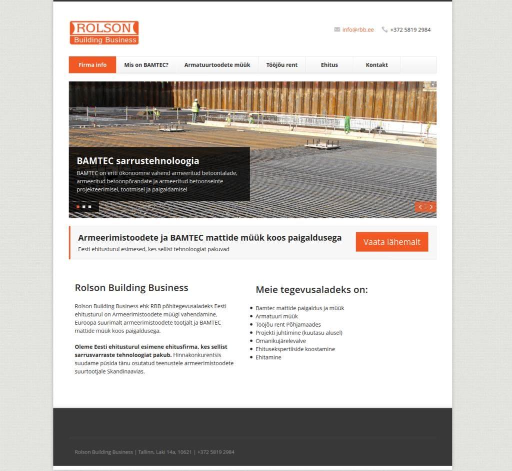 Kodulehekülje tegemine ehitusfirmaleKodulehekülje tegemine - Rolson Building Business