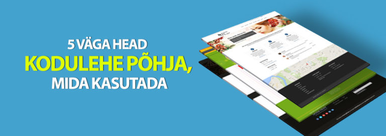Kodulehe põhjad: Lihtne koduleht Wordpressiga